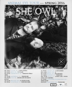 She Owl: Tourplakat 2016