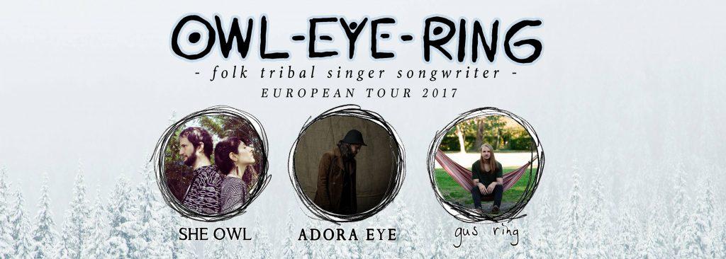 Owl-Eye-Ring: She Owl, Adora Eye und Gus Ring gemeinsam auf Tour. Copyright: Jackalope - Artist need Management
